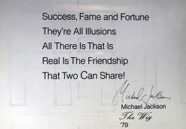 Itens preciosos e pessoais de Michael no leilão de Juliens Mj-quote