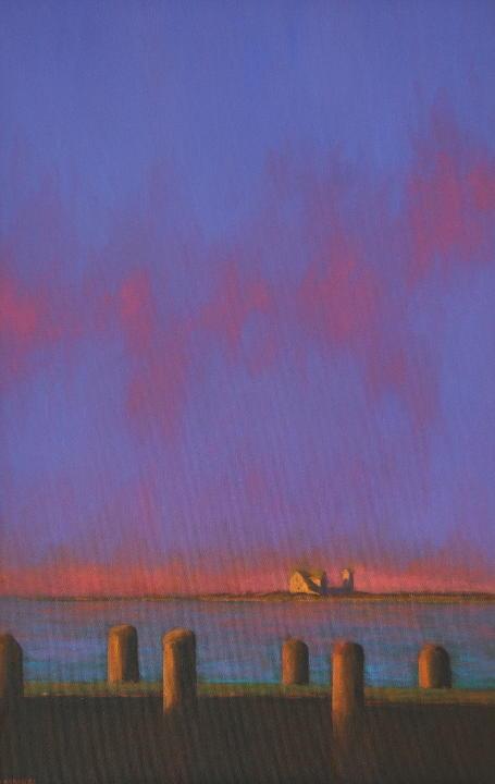 """Robert Cardinal - Stage Harbor Light - 30"""" x 20"""""""