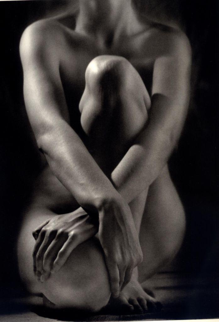 Ruth Bernhard -  Classic Torso with hands - 1952