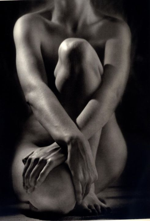 Ruth Bernhard -  Classic Torso with hands - 1952