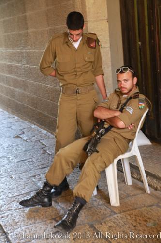 Israeli soldiers - Jerusalem