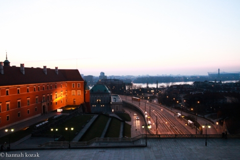 Another view from Dom Literatury of Old Town in Warsaw, Poland