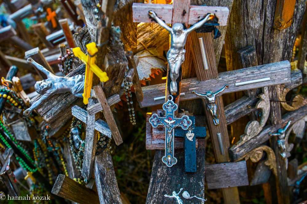Two crosses I placed; one from Mexico and one from my closest friend.