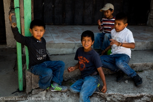 Four children - Santiago, Lake Atitlan
