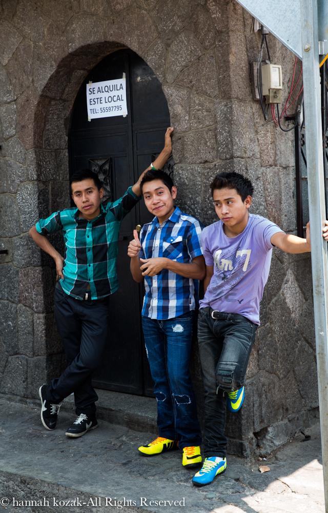 Three young boys, Santiago, Lake Atitlán, Guatemala