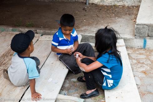 Children, Santiago, Lake Atitlán, Guatemala