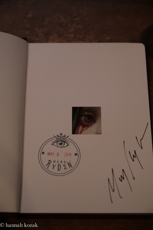 Mark Ryden Blood autograph and stamp