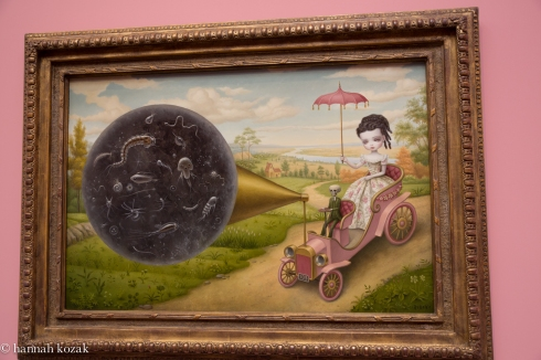 Mark Ryden, The Cone of Memory, 2012, oil on canvas with vintage frame 37.5 x 2 30.5 inches