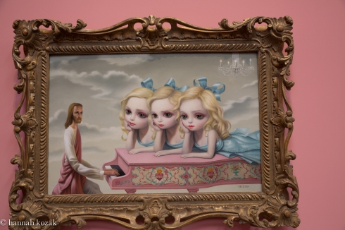 Mark Ryden, The Piano Man, 2006, oil on canvas with artist designed frame, 29 x 39 inches