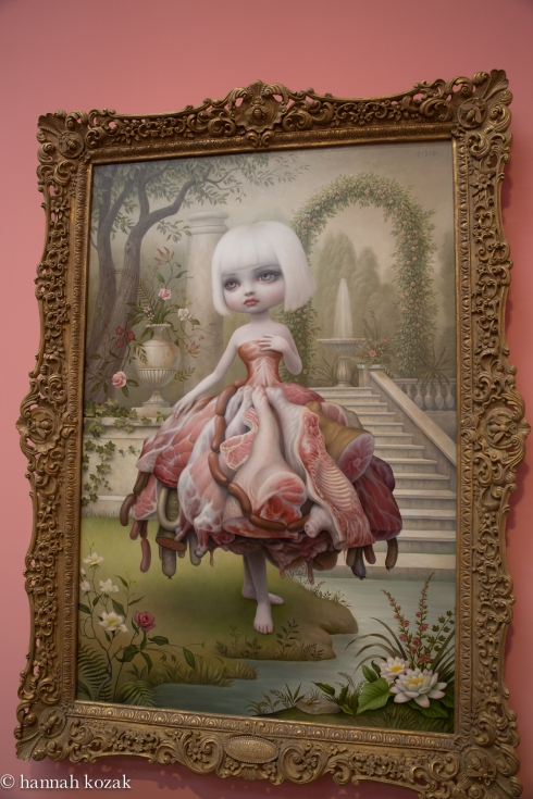 Mark Ryden, Incarnation, 2009, oil painted on canvas with artist designed frame, 86.5 x 63.5 inches