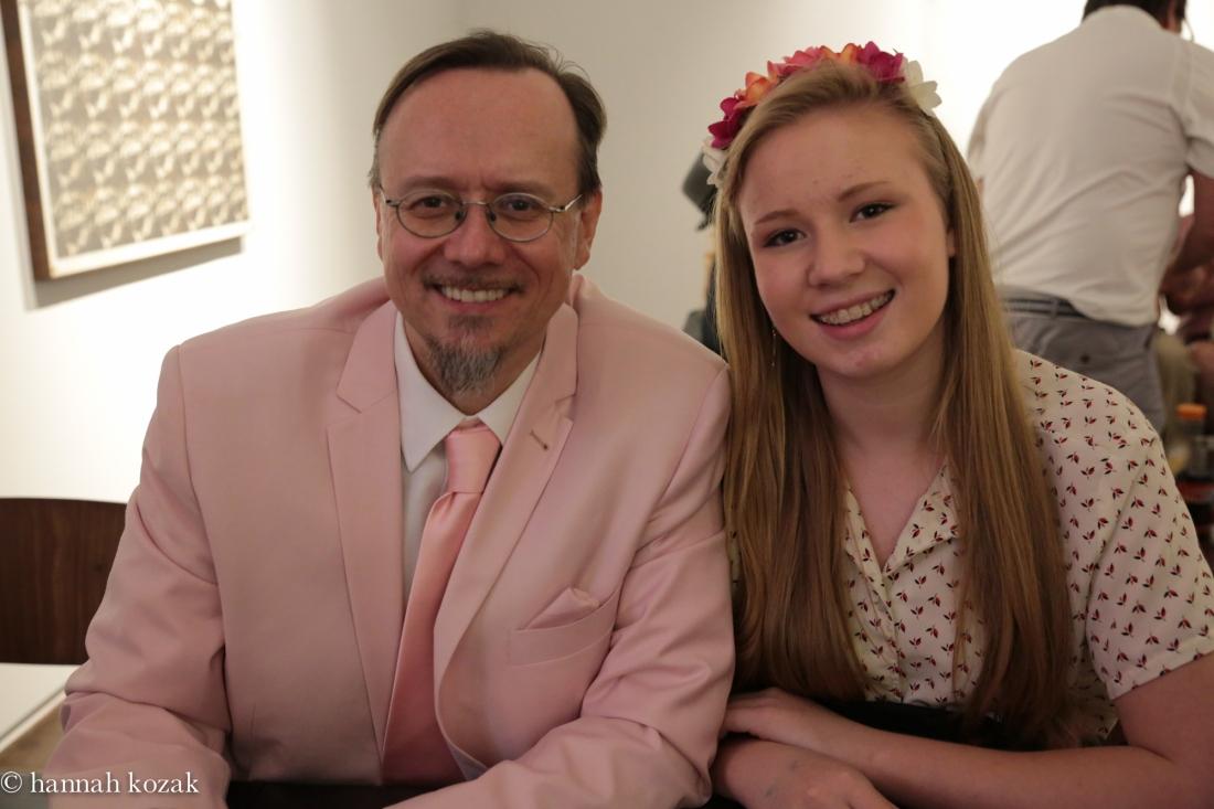 Mark Ryden and daughter @ Kohn Gallery, 3 May 2014,