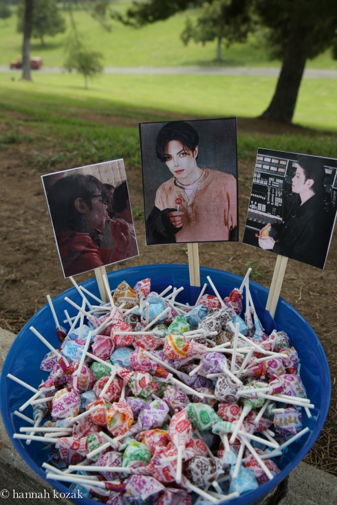 Michael loved Dum Dum lollipops