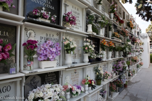 Cemetery in Nirja, Spain