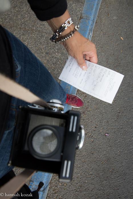 Self portrait with Rolleiflex 2.8F - Nirja, Spain