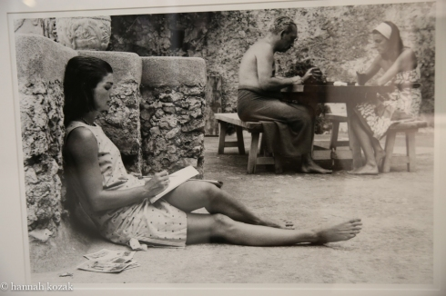 Benno Graziani Jackie Writing,  Ravello, August 1962 Edition 7/10 Silver gelatin, Printed later. Size 23. 6 x 15.7 in/60x 40 cm Captioned, dated, stamped and signed on back