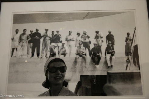 Benno Graziani Jackie and Paparazzi, Amalfi, August 1962 Edition 5/10 Silver gelatin. Printed later. Size 23.6 x 15.7 in / 60 x 40 cm Captioned, dated, stamped and signed on back.
