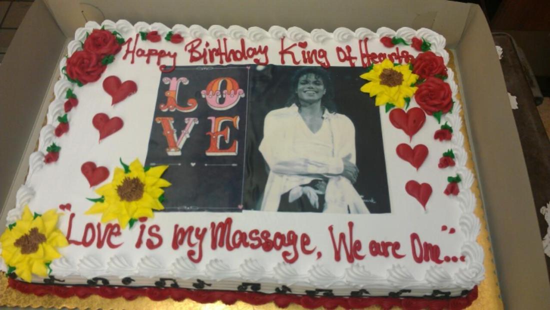 Cake for Michael Jackson - 29 August 2015