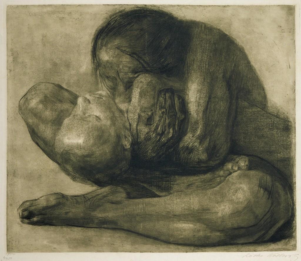 Käthe Kollwitz-Woman w/dead child - 1903.